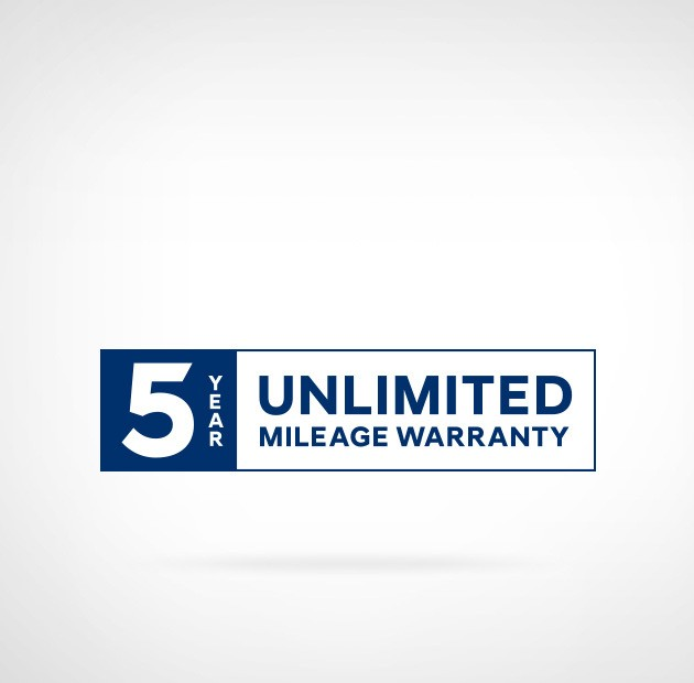 5-year unlimited mileage warranty